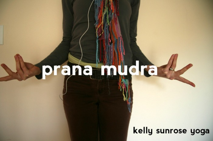 Kelly Sunrose Yoga// Prana Mudra