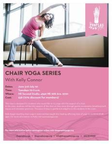 chair Yoga poster