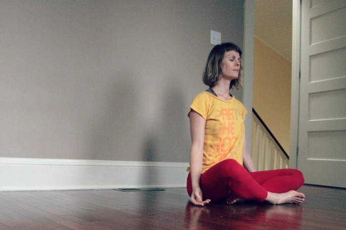 Easy Pose// Seat// hatha yoga