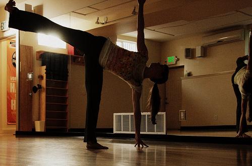 half moon pose// hatha yoga