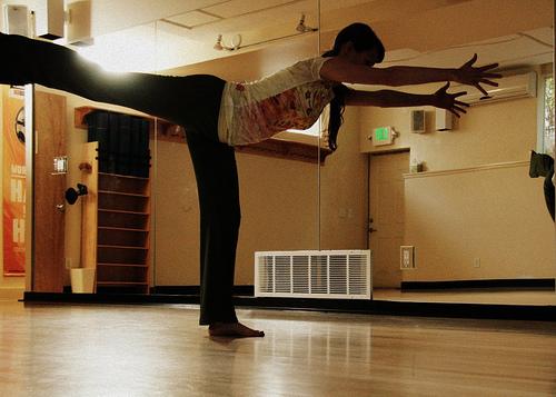 warrior 3// hatha yoga