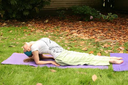 fish pose// hatha yoga