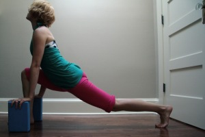 lunge with blocks
