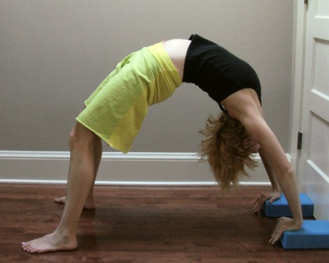 urdhva dhanurasana with blocks