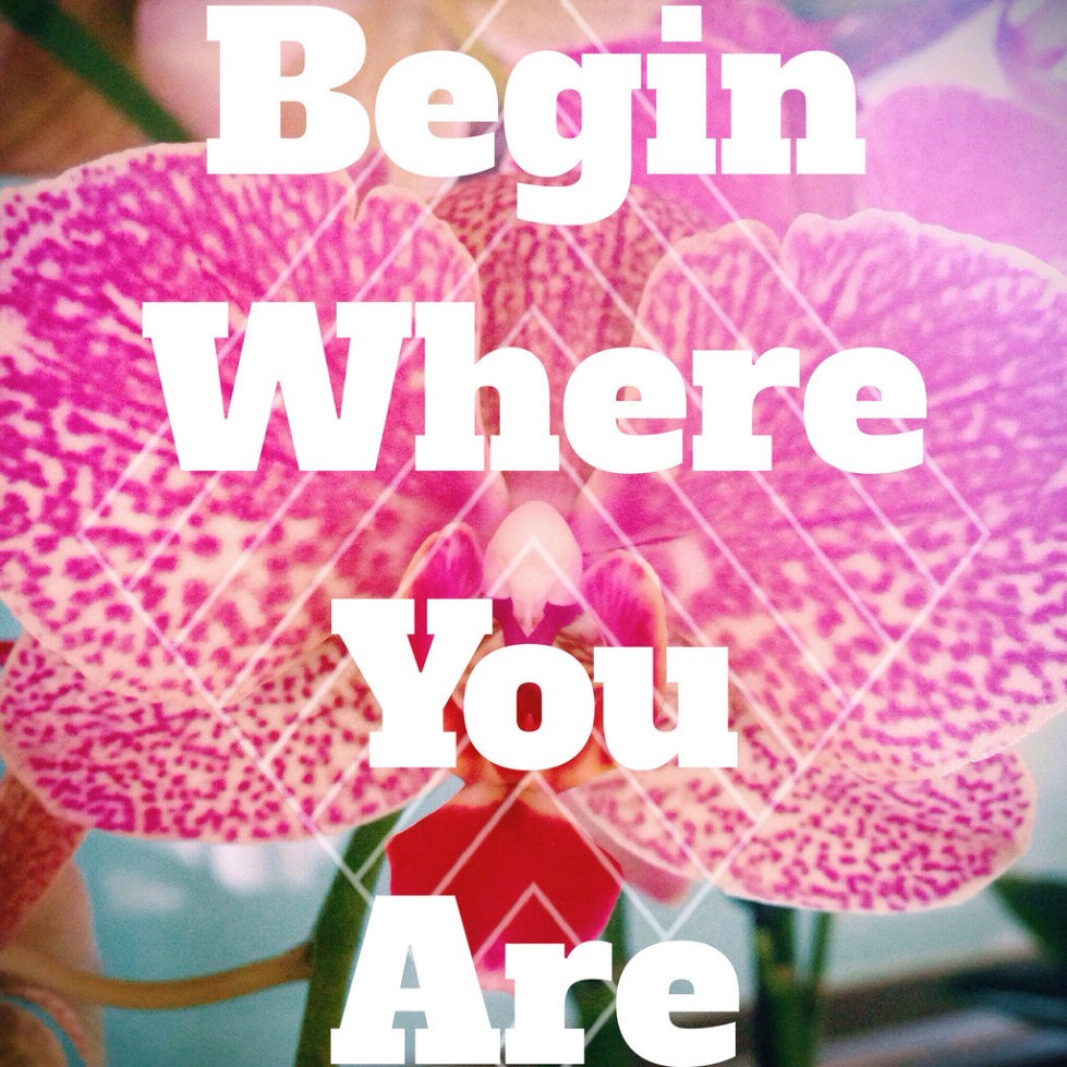 Kelly Connor Sunrose Yoga// begin where you are