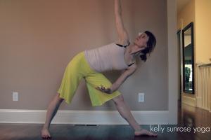 triangle// hatha yoga