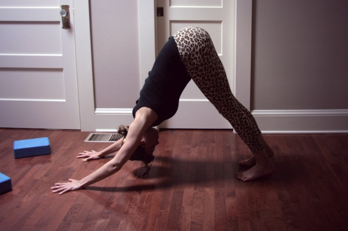 Downward dog// Online Yoga Class with Kelly Sunrose