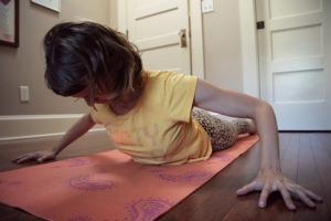 Kelly Connor Sunrose Yoga// wide-armed cobra pose// hatha yoga