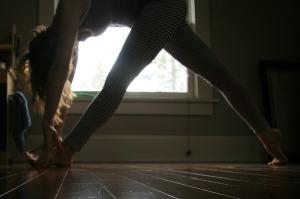 Samadhi Rush// Kelly Sunrose Yoga// Online Yoga Practice// Dynamic lunge