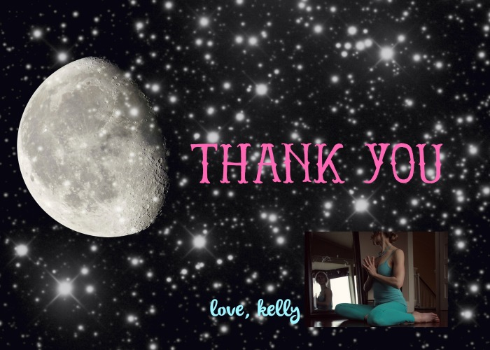 thank you. love, kelly