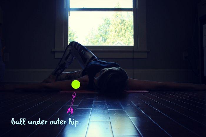 Myofascial release and restorative yoga// Treasuring the Body